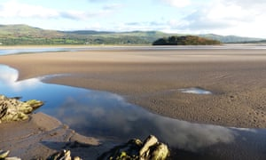 Looking across the Dwyryd estuary to Llech Ollwyn on the farther shore