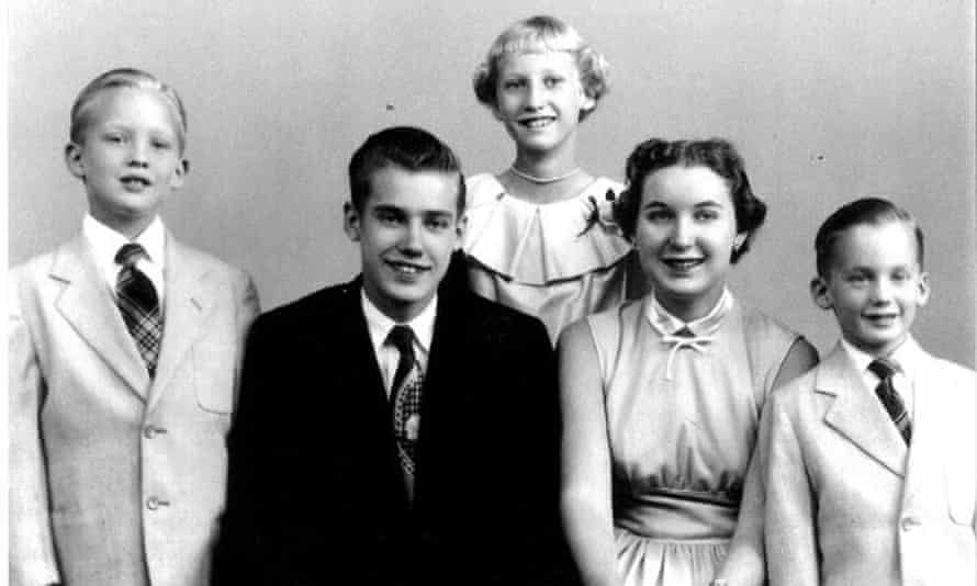Donald Trump (left) his siblings Fred (Mary's father), Elizabeth, Maryanne and Robert.