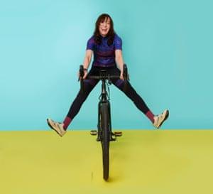 Zoe Williams on a bike