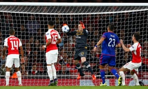 Arsenal's David Ospina drops the ball to concede an own goal against Olympiakos and add impetus to the questions over why he was chosen ahead of Petr Cech.