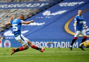 kemar roofe scores the third for 'gers.