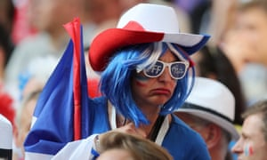 Many France games didn't enjoy the show as their team drew 0-0 with Denmark.