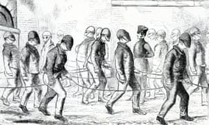 Convicts Exercising in Pentonville Prison by Henry Mayhew and John Binny, 1862.
