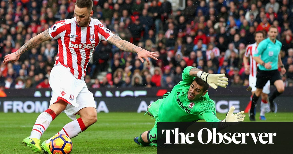 4c95b0ccf Marko Arnautovic at the double for Stoke to sink hapless Middlesbrough