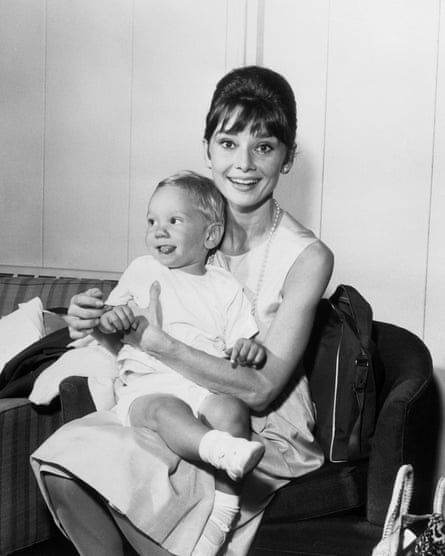 Hepburn with her son Sean not long after filming Breakfast at Tiffany's.