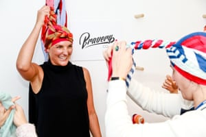"Sick of wearing wigs during her second stint with cancer, she was driven to create a range of ""cool"" cancer headwear – Bravery Co"