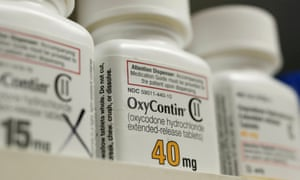 Bottles of painkiller OxyContin, made by Purdue Pharma.