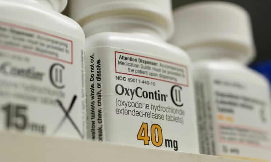 The prescription painkiller OxyContin at a pharmacy. The lawsuit takes the unusual step of personally naming the company executives.
