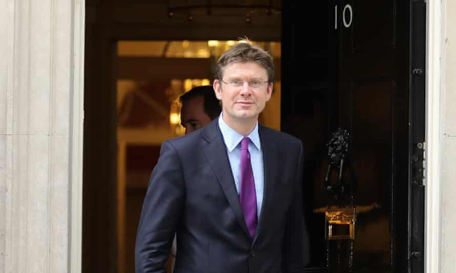 Greg Clark leaves 10 Downing Street after being appointed business, energy and industrial strategy secretary.