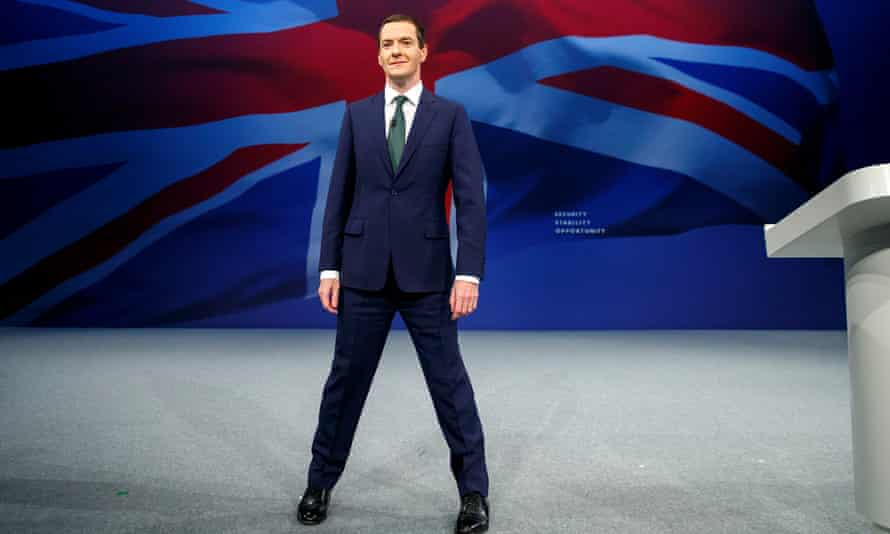 George Osborne strikes a pose at the Conservative party conference.