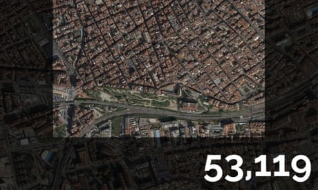 Europe's most densely populated square kilometres – mapped