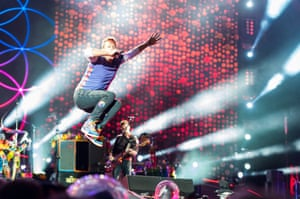 Coldplay at the Principality Stadium, Cardiff.