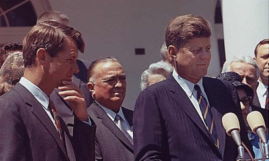 US president John F Kennedy with attorney general Robert F Kennedy in 1963.