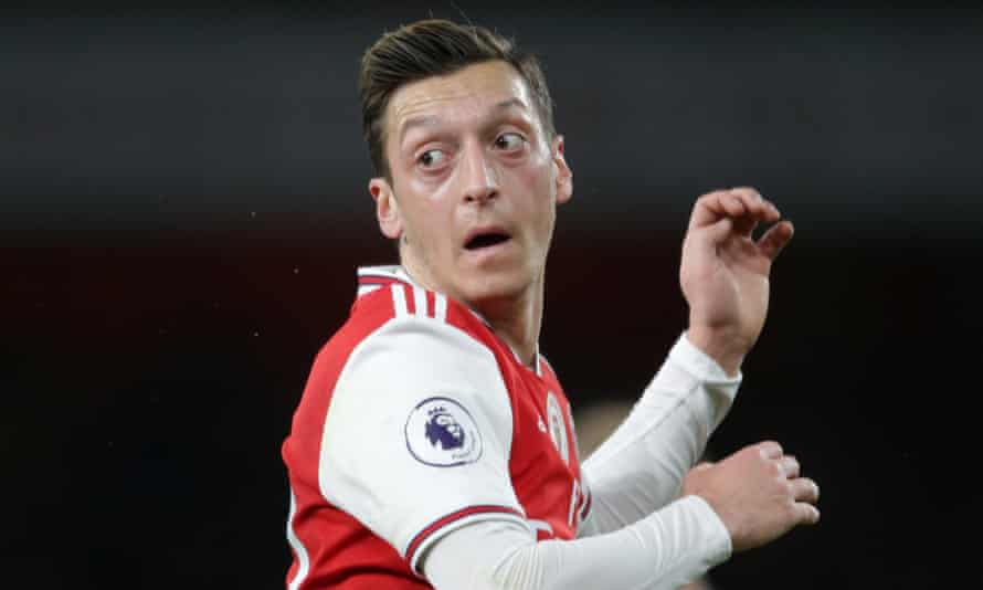 Mesut Özil's comments on social media were met with anger among Arsenal fans in China.