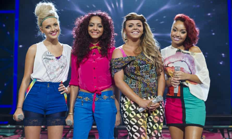 Little Mix on The X Factor in 2011, from left: Perrie Edwards, Jade Thirlwall, Jesy Nelson and Leigh-Anne Pinnock.