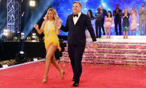 Ed Balls with dancing partner Laura Whitmore at the launch of Strictly Come Dancing this week