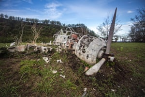 Skeletal remains of a Japanese Zero on Pagan, one of the many remnants of the second world war located on the island.