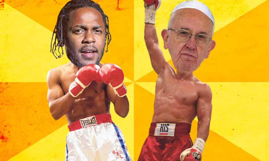 Kendrick Lamar and the pope square up