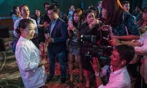Jay Fai with her Michelin award.
