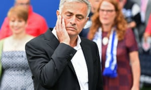 Mourinho during Sunday's defeat at Brighton