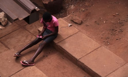 A young girl in Kibera, Nairobi
