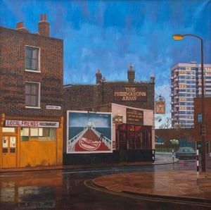 Salmon Lane in the rain, Bow, 1987
