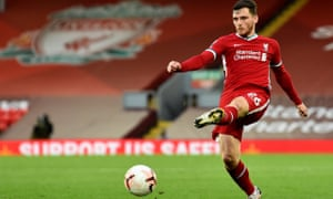 Liverpool's Andy Robertson: 'We have a squad with young lads who are getting better every day.'