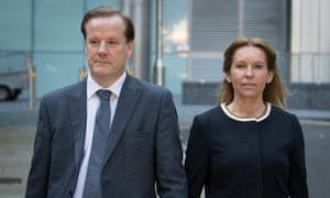 Charlie Elphicke and his wife Natalie, who won his former seat in the 2019 general election.