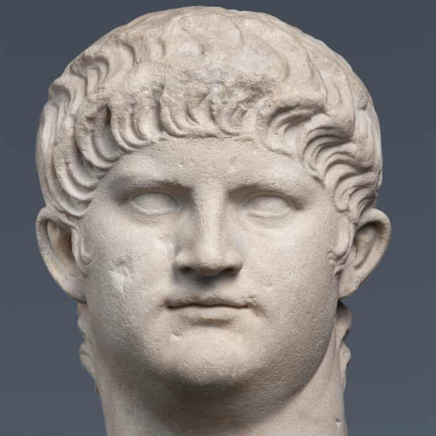 Marble portrait of Nero, AD64–8, Rome, Italy.