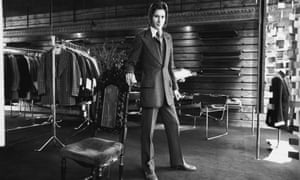 'Flamboyant': Tommy Nutter in his shop in November 1969