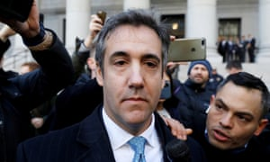 Michael Cohen leaves court on Thursday.