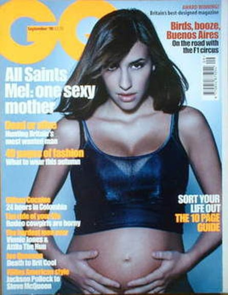 Melanie Blatt on the cover of GQ in 1998.