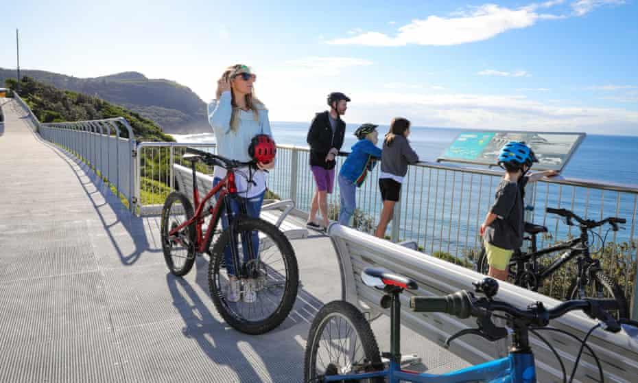 Wollongong's bike paths hug Australia's picturesque east coast.