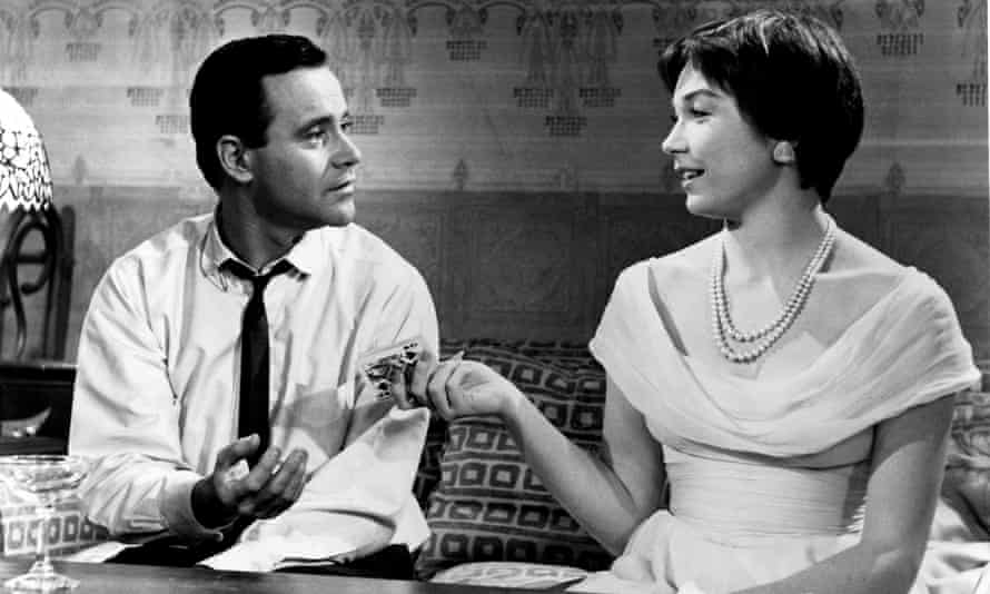 Jack Lemmon and Shirley Maclaine in Billy Wilder's The Apartment.