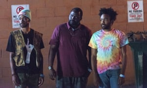 Henry in Atlanta with Lakeith Stanfield (left) and Donald Glover (right).