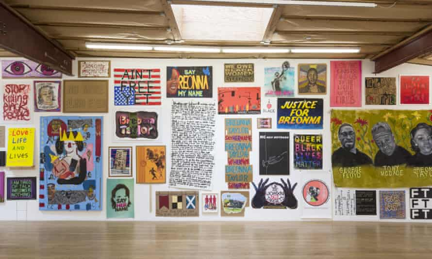 Installation view of Show Me the Signs at Blum & Poe