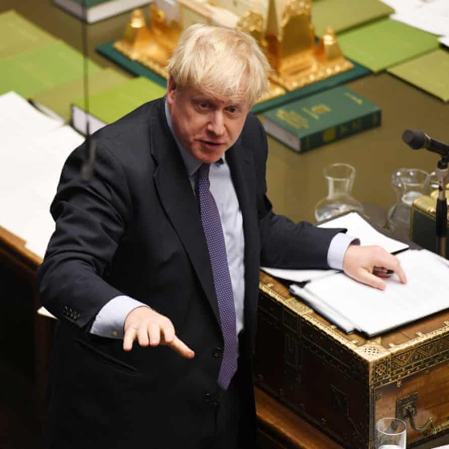 Boris Johnson on 22 October, when he was defeated in a vote on his Brexit timetable