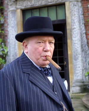 Albert Finney as Sir Winston Churchill in The Gathering Storm, 2003