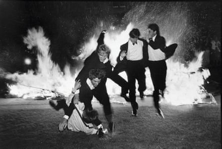 'The whole event was slightly mad' … Burning Boat, Oriel, Oxford, 1984.