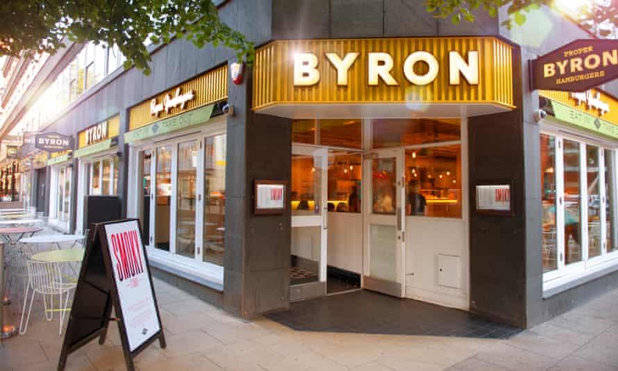 Byron restaurant in Manchester