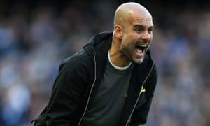 Guardiola's reaction.
