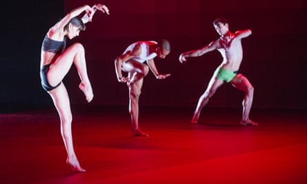 A scene from Atomos by Wayne McGregor at Sadler's Wells in 2013.