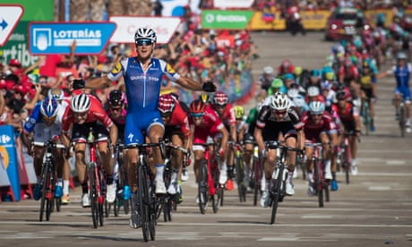 Matteo Trentin sprints to victory in stage four of Vuelta a España