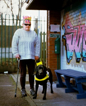 """Colourful Cath and the 'pie hungry' guide dog. """"I wanted Vimto colour"""" said Cath Orwell: Your guide (a miner) is sympathetic. He knows that your muscles are not the same as his. 'Only another four hundred yards,' he says encouragingly; you feel that he might as well say another four hundred miles."""