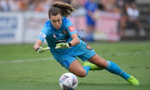 Mackenzie Arnold, pictured in action for Brisbane Roar against Canberra United in February, has signed with West Ham.
