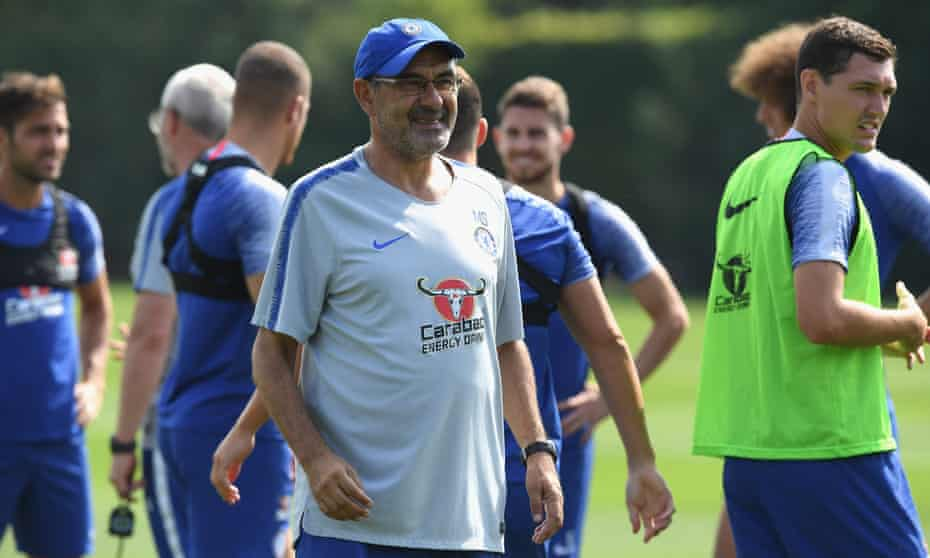 Maurizio Sarri has not had much time to put his ethos across at Chelsea's training ground.