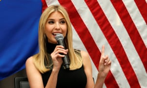 Daddy's girl … Ivanka Trump making a speech in Washington DC earlier this month.