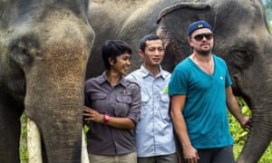 Farwiza Farhan and Leonardo DiCaprio at the Leuser Ecosystem in Aceh last year