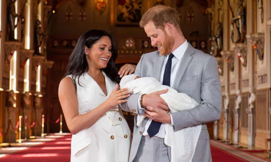 The Duke and Duchess of Sussex with their son in Windsor