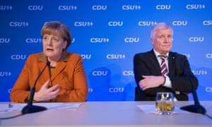 Angela Merkel and Horst Seehofer.